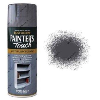 Rust-Oleum-Painter's-Touch-Dark-Grey-Spray-Paint-Gloss-400ml-