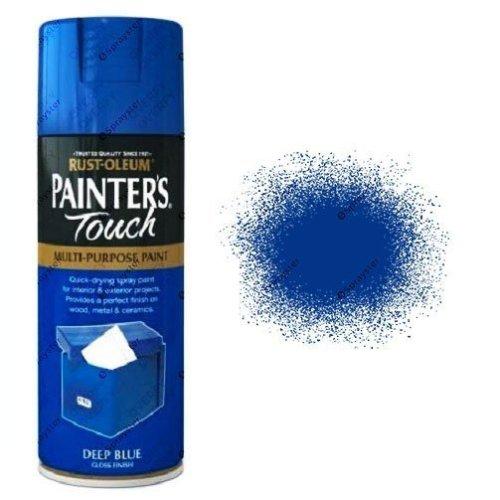 Rust-Oleum-Painter's-Touch-Deep-Blue-Spray-Paint-Gloss-400ml