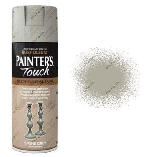 Rust-Oleum-Painters-Touch-Stone-Grey-Spray-Paint-Satin-400ml-