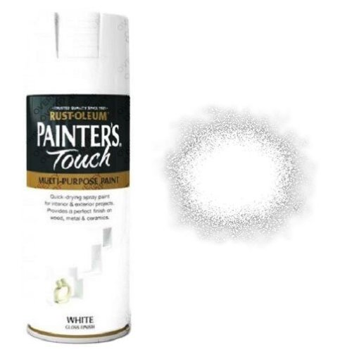 Rust-Oleum-Painter's-Touch-White-Gloss-Spray-Paint-400ml
