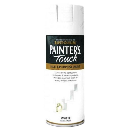 Rust-Oleum Painter's Touch White Gloss Spray Paint 400ml