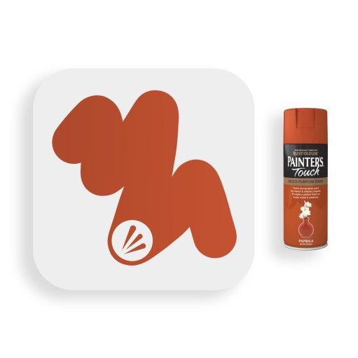 Rust-Oleum-Paprika-Satin-Spray-Paint-400ml-Painters-Touch-Swatch