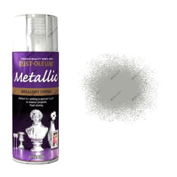 Rust-Oleum Premium Metallic Chrome Spray Paint 400ml