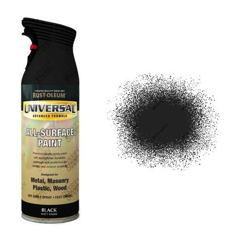 Rust-Oleum Black Matt Universal Spray Paint 400ml