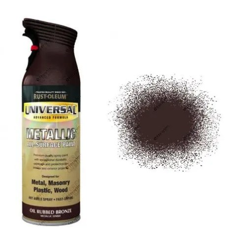 Rust-Oleum Oil Rubbed Bronze Metallic Universal Spray Paint 400ml
