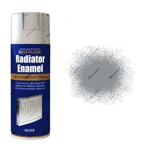 Rust-Oleum Metallic Silver Radiator Enamel Spray Paint 400ml