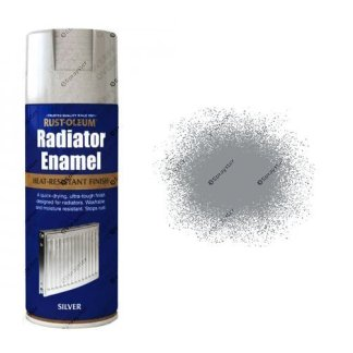 Rust-Oleum Metallic Silver Radiator Enamel Spray Paint 400ml