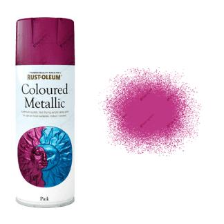Rust-Oleum Premium Metallic Pink Spray Paint 400ml