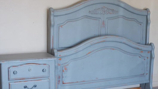 Powder Blue Chalky Paint 3