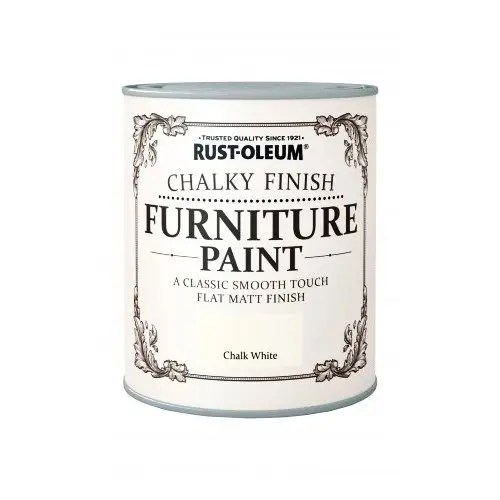 Rust-Oleum-Chalky-Furniture-Paint-Chic-Shabby-750ml-White-Matt-04L-Clear-Wax-371595314327
