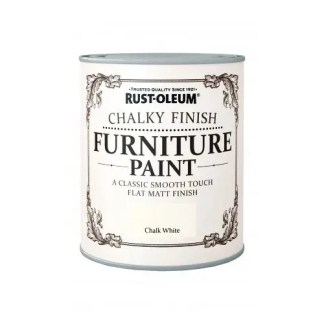 Rust-Oleum-Chalky-Furniture-Paint-Chic-Shabby-750ml-White-Matt-04L-Clear-Wax-371595314327