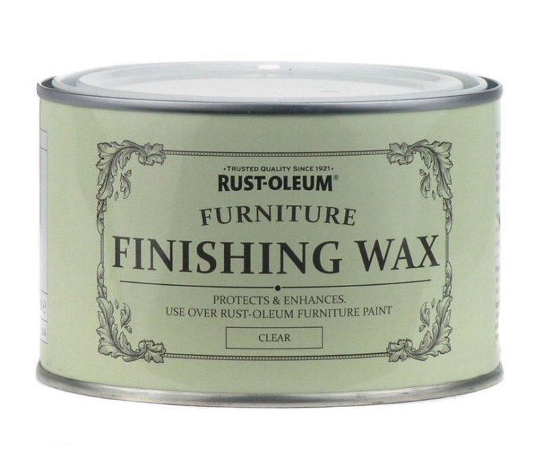 Clear Furniture Wax 400ml Rust Oleum Shabby Chic Finish Sprayster