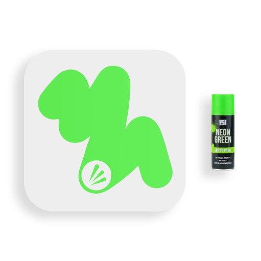 151-Fluorescent-Neon-Green-Spray-Paint-200ml-Swatch
