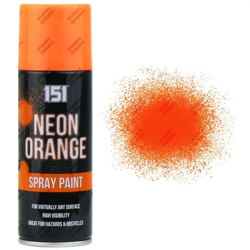 151 Fluorescent Neon Orange Spray Paint 200ml