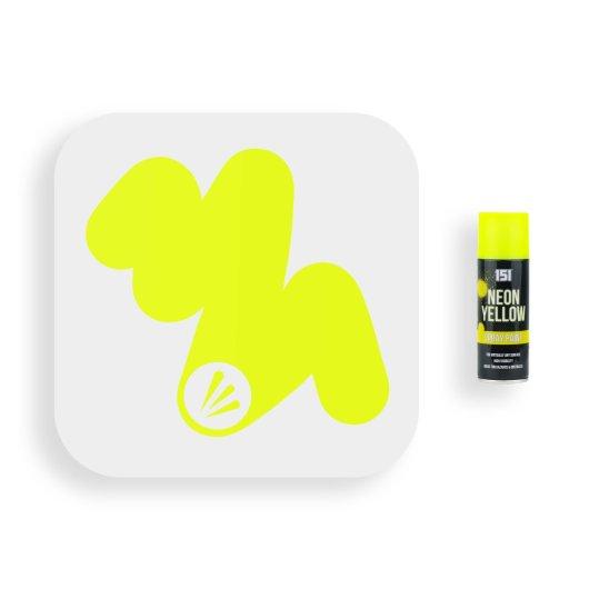 151-Fluorescent-Neon-Yellow-Spray-Paint-200ml-Swatch