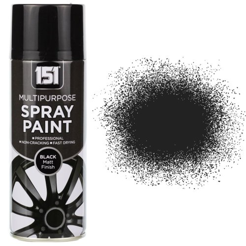 400ml 151 Black Matt Spray Paint