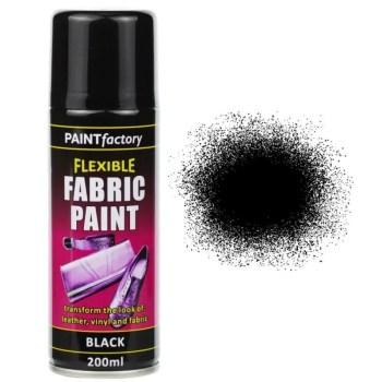 Black Fabric Spray Paint 200ml Flexible Clothes Aerosol