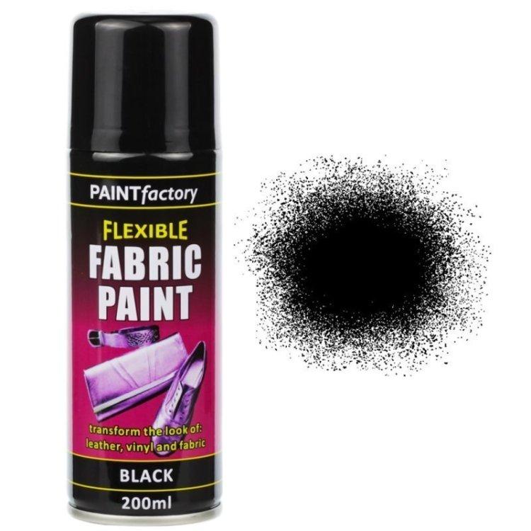 Black Fabric Spray Paint 200ml Flexible Clothes Aerosol