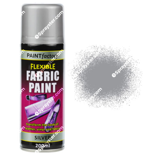 silver fabric spray paint 200ml flexible clothes aerosol sprayster. Black Bedroom Furniture Sets. Home Design Ideas