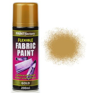 Gold Fabric Spray Paint 200ml Flexible Clothes Aerosol