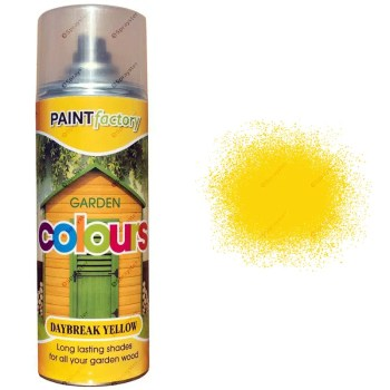 x1-Daybreak-Yellow-Garden-Aerosol-Spray-Paint-Lasting-Shades-For-Wood-400ml-391826802338