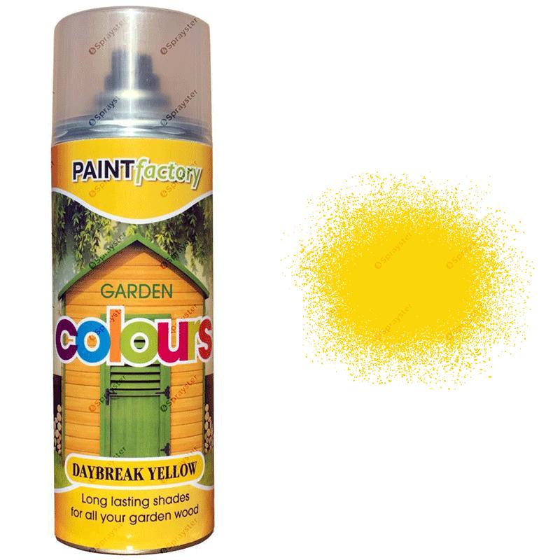 x1-Daybreak-Yellow-Garden-Aerosol-Spray-Paint-Lasting-Shades-For-Wood-400ml-391826802338