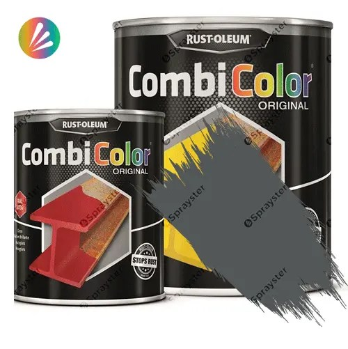Direct-To-Metal-Paint-Rust-Oleum-CombiColor-Original-Satin-750ml-Sprayster-Dark-Grey