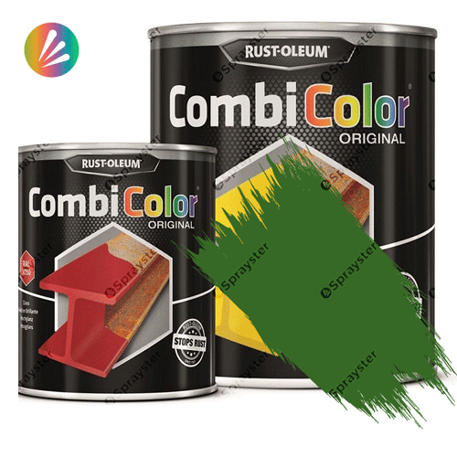 Direct-To-Metal-Paint-Rust-Oleum-CombiColor-Original-Satin-750ml-Sprayster-Grass-Green