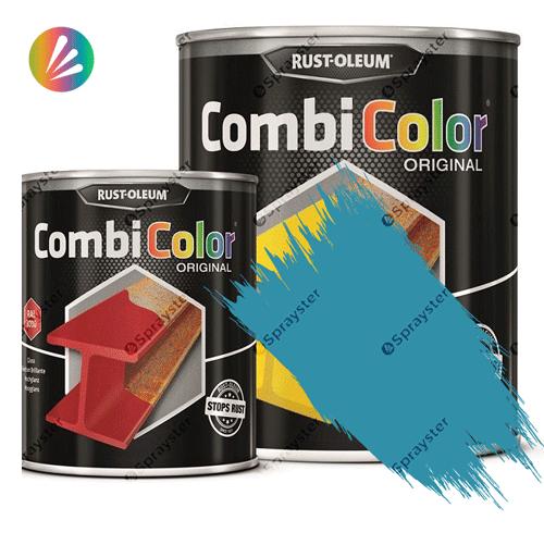 Direct-To-Metal-Paint-Rust-Oleum-CombiColor-Original-Satin-750ml-Sprayster-Light-Blue-Hammertone