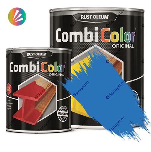 Direct-To-Metal-Paint-Rust-Oleum-CombiColor-Original-Satin-750ml-Sprayster-Light-Blue