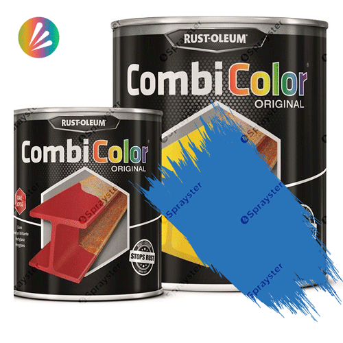 Direct-To-Metal-Paint-Rust-Oleum-CombiColor-Original-Satin-750ml-Sprayster-Light-Blue