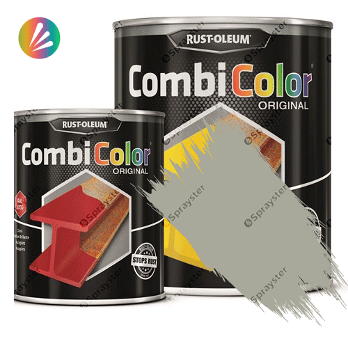 Direct-To-Metal-Paint-Rust-Oleum-CombiColor-Original-Satin-750ml-Sprayster-Light-Grey