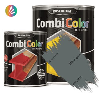 Direct-To-Metal-Paint-Rust-Oleum-CombiColor-Original-Satin-750ml-Sprayster-Navy-Grey