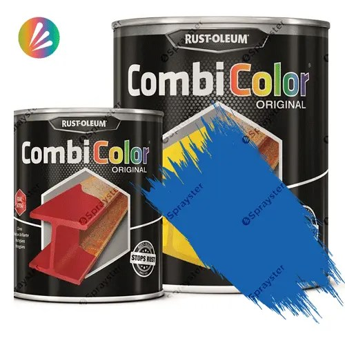 Direct-To-Metal-Paint-Rust-Oleum-CombiColor-Original-Satin-750ml-Sprayster-Sky-Blue