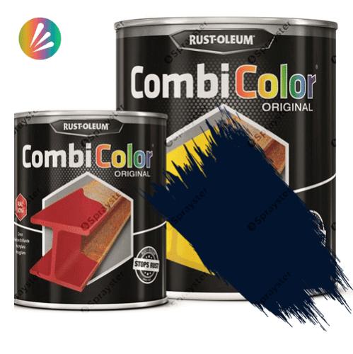 Direct-To-Metal-Paint-Rust-Oleum-CombiColor-Original-Satin-750ml-Sprayster-Steel-Blue
