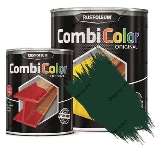Direct-To-Metal-Paint-Rust-Oleum-CombiColor-Original-Satin-Sprayster-Green