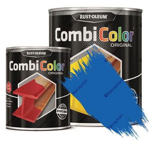 Direct-To-Metal-Paint-Rust-Oleum-CombiColor-Original-Satin-Sprayster-Sky-Blue