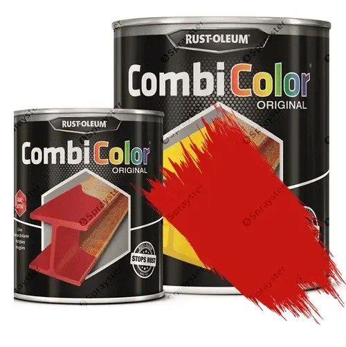 Direct-To-Metal-Paint-Rust-Oleum-CombiColor-Original-Satin-Sprayster-Traffic-Red