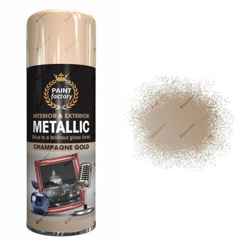 x1-Paint-Factory-Multi-Purpose-Spray-Paint-400ml-Gloss-Metallic-Champagne-Gold