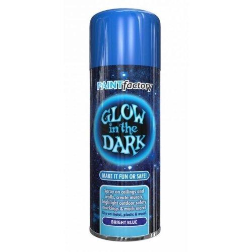 Glow In The Dark Bright Blue Spray Paint 400ml