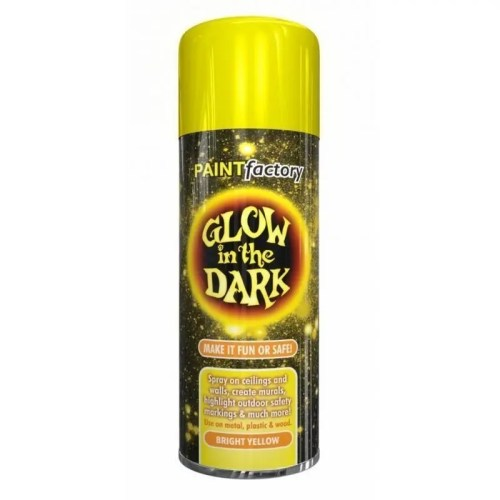 Glow In The Dark Bright Yellow Spray Paint 400ml