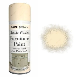 x1-Paint-Factory-Multi-Purpose-Chalk-Spray-Paint-400ml-Clotted-Cream-Matt