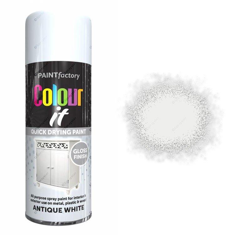 x1-Paint-Factory-Multi-Purpose-Colour-It-Spray-Paint-400ml-Antique-White-Gloss