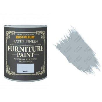 Rust-Oleum Blue Sky Furniture Paint 750ml Shabby Chic Toy Safe Satin