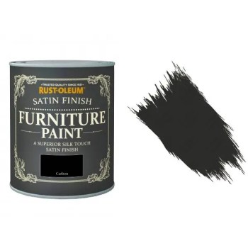 Rust-Oleum Carbon Furniture Paint 125ml Shabby Chic Toy Safe Satin