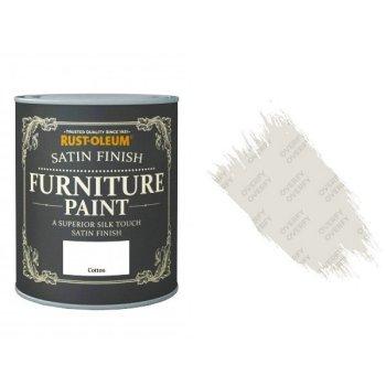 Rust-Oleum Cotton Furniture Paint 125ml Shabby Chic Toy Safe Satin