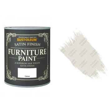 Rust-Oleum Cotton Furniture Paint 750ml Shabby Chic Toy Safe Satin