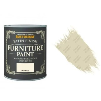 Rust-Oleum Shortbread Furniture Paint 750ml Shabby Chic Toy Safe Satin