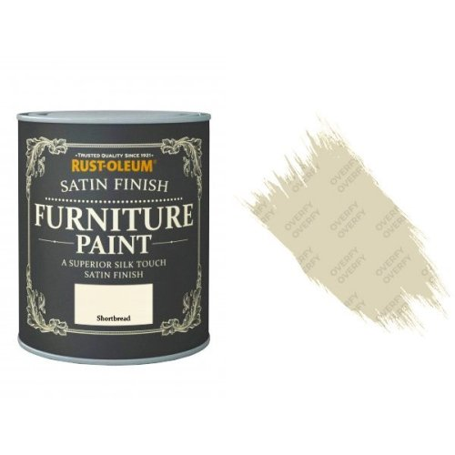 Rust-Oleum Shortbread Furniture Paint 750ml Shabby Chic Toy Safe Satin