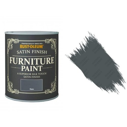 Rust-Oleum Slate Furniture Paint 750ml Shabby Chic Toy Safe Satin